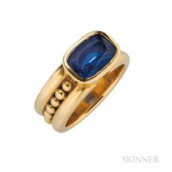 18kt Gold and Tanzanite Ring