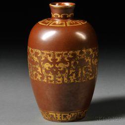Vase with Gilt Design