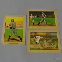 Three Turkey Red Cigarette Series Illustrated Baseball Cards