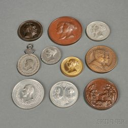 Ten Commemorative Medals Relating to the British Royal Family