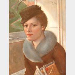 Kenneth Hayes Miller (American, 1876-1952)      Shop Girl