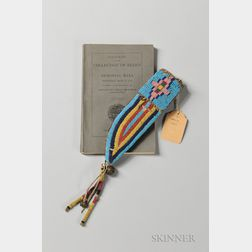 Historic Sioux Beaded Buffalo Hide Knife Sheath from the Little Big Horn Battlefield