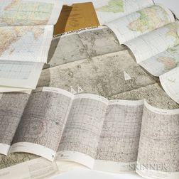 NASA Charts and Maps, Five, 1968-1973.