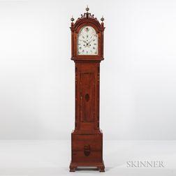Central Massachusetts Inlaid Cherry Tall Clock