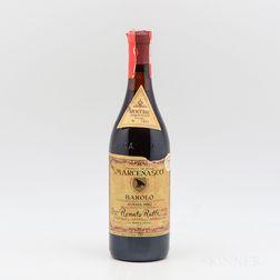 Renato Ratti Barolo Marcenasco 1982, 1 bottle
