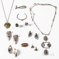 Group of Modern Silver Jewelry