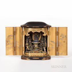 Portable Lacquered Shrine, Zushi