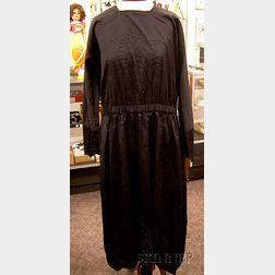 Group of Ladies Black Silk Costumes