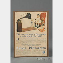 Small Group of Phonograph Ephemera