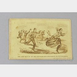 Civil War Era Carte de Visite Political Caricature of the Fleeing Jefferson Davis