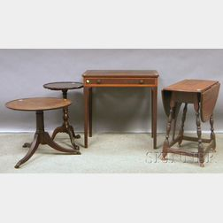 Four Assorted Reproduction Tables and Stands