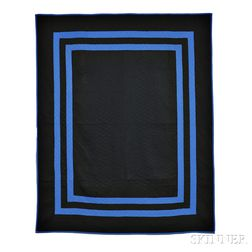 Black and Blue Amish Quilt
