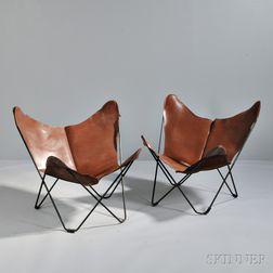 Two Jorge Ferrari-Hardoy Butterfly Chairs