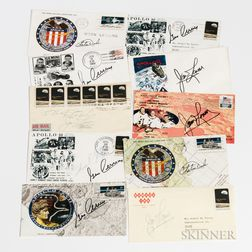 Signed First Day Covers, Ten Envelopes Signed by Astronauts, 1966-1972.