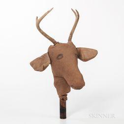 Cloth Deer Head with Antlers