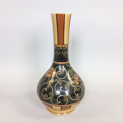 Wedgwood Glazed Floral-decorated Ceramic Vase