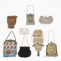 Seven Vintage Beaded and Mesh Purses