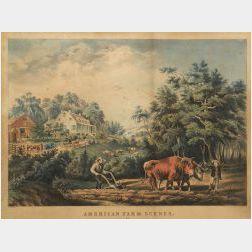 Nathaniel Currier, publisher (American, 1813-88)  American Farm Scenes.  No. 1.