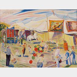 Frank Carson (American, 1881-1968)      Circus in a Cornfield