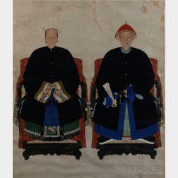 Ancestor Portrait of a Couple