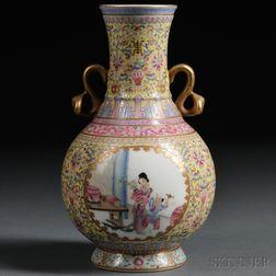 Porcelain Vase with Gilt Design