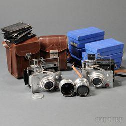 Two Plaubel Makina IIIR Cameras, Lenses and Accessories