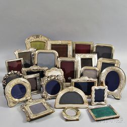 Twenty-five .800 and Sterling Silver Picture Frames