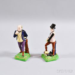 Two Staffordshire Ceramic Figures