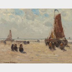 Henry Hobart Nichols (American, 1869-1962)      Beach at Katwyk