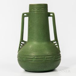 Hampshire Pottery Two-handled Vase