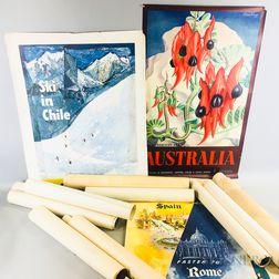 Seventy-three Mid-20th Century Travel Posters