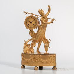 Gilt-bronze Mantel Clock