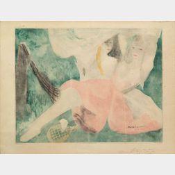 Jacques Villon (French, 1875-1963), After Marie Laurencin (French, 1883-1956)    La Femme au Hamac