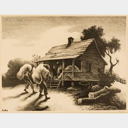 Thomas Hart Benton (American, 1889-1975)      Back From the Fields