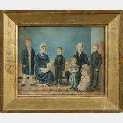 Attributed to John Ritto Penniman (Massachusetts, 1782-1841)      Family Group.