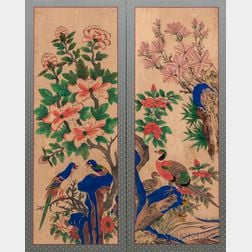 Two Minhwa   Panel Paintings