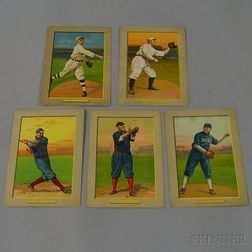 Five Turkey Red Cigarette Series Illustrated Baseball Cards