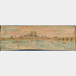 Fore-edge Painting, Two Volumes.