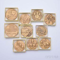 Ten Space-related Bronze Medals