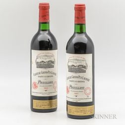 Chateau Grand Puy Lacoste 1983, 2 bottles