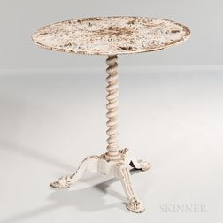 White-painted Cast Iron Table