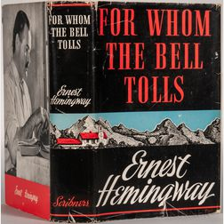 Hemingway, Ernest (1899-1961) For Whom the Bell Tolls  , First Edition.