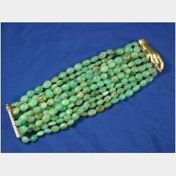 18kt Gold and Chrysoprase Bracelet