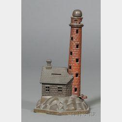Cast Iron Mechanical Lighthouse Bank