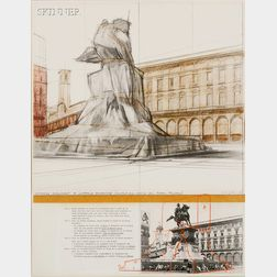 Christo (American, b. 1935)      Wrapped Monument to Victorio Emmanuele