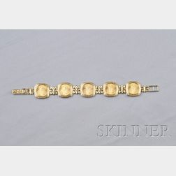 Saint-Gaudens $5-Dollar Gold Coin-mounted Bracelet
