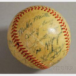 1951 Autographed Baseball