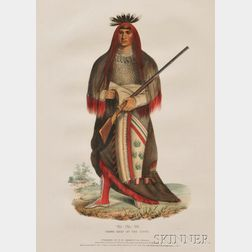 "McKenney and Hall Hand-colored Lithograph of ""Wa - Na - Ta,"""