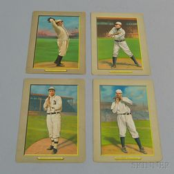 Four Turkey Red Cigarette Series Illustrated Baseball Cards