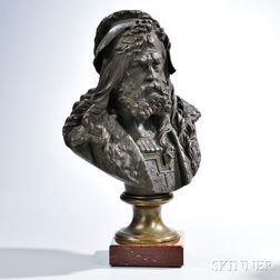 After Albert Ernest Carrier-Belleuse (French, 1824-1887)       Bronze Bust of a Nobleman